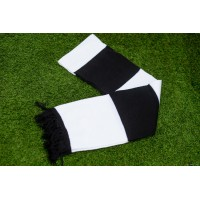 Black and White Bar Scarf